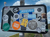 Crazy sticker sign Croyde
