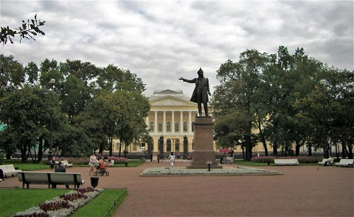 Pushkin in front of the Russian Museum, Saint Petersburg