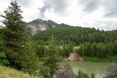 The Snake River, going through Targhee National Forest near Alpine Wyoming