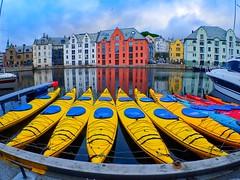 Kayaks in Ålesund, Norway