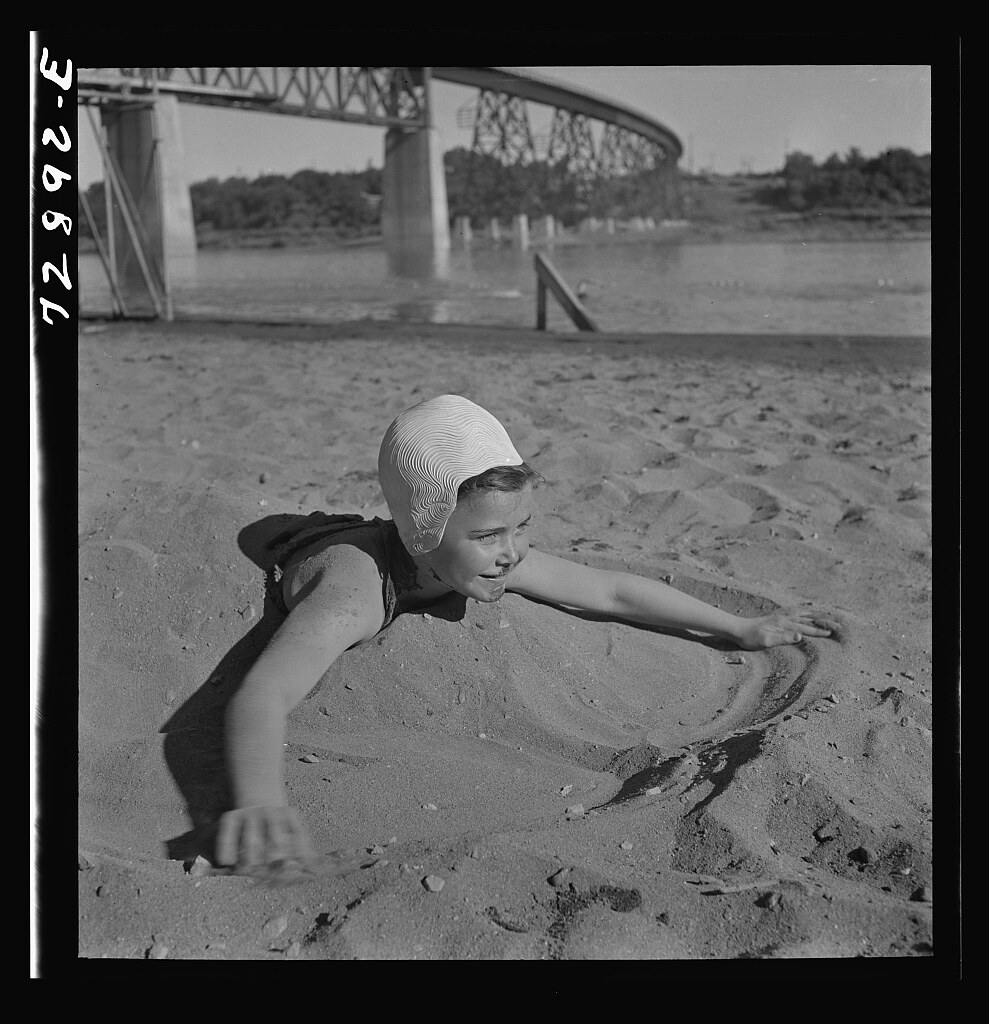 Redding, California. Youngsters at the beach (LOC)