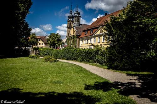 Heckerhaus, ehemalige Schlosskirche und die Evangelische Kirche in Eichtersheim