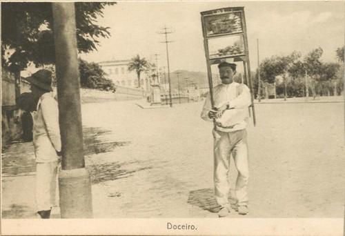 'Doceiro' [Sweetener] merchant postcard