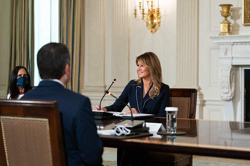 First Lady Melania Trump Participates in by The White House, on Flickr