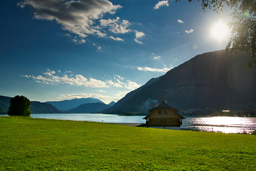 At the lake of Ossiach, Carinthia, Austria