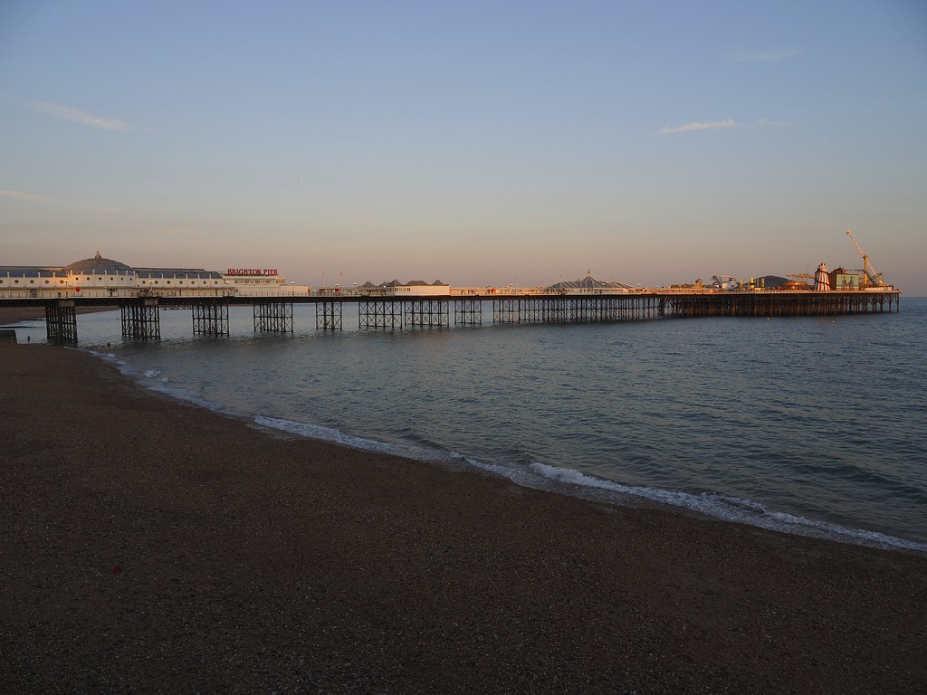 Brighton Palace Pier at golden hour