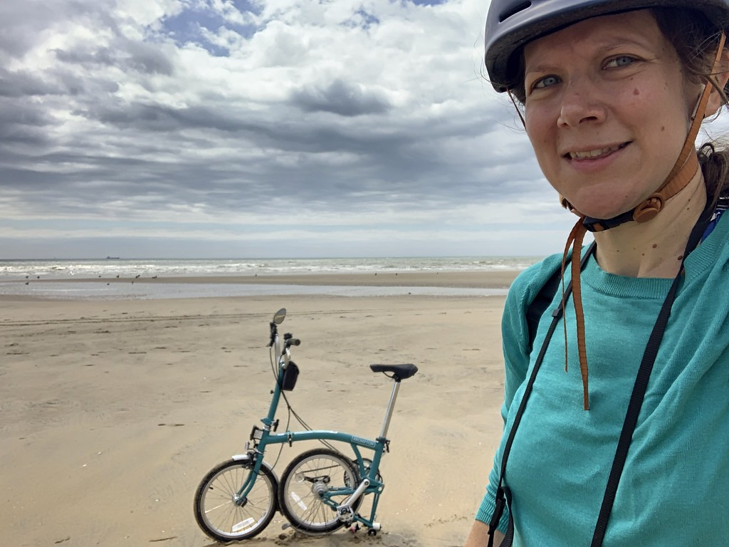 The Brompton and I made it to Camber Sands