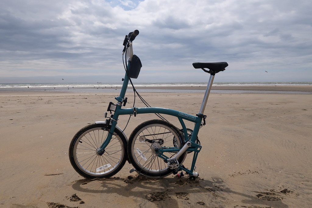 My Brompton B75 at Camber Sands