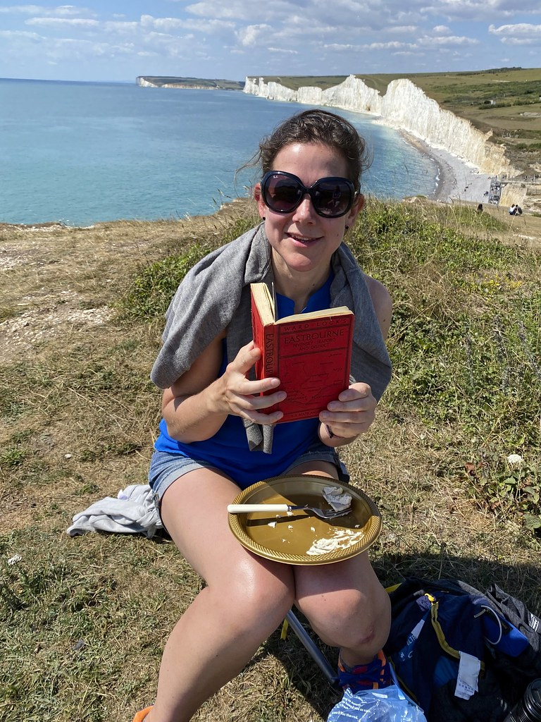 Picnic overlooking Seven Sisters