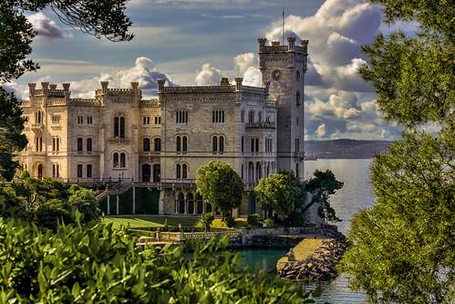 Castillo Miramare. Grignano. Friuli-Venezia Giulia.