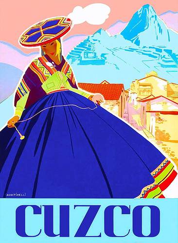 AGOSTINELLI. Cuzco-travel poster