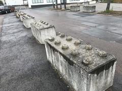 Photo of Concrete blocks shaped like giant Lego bricks