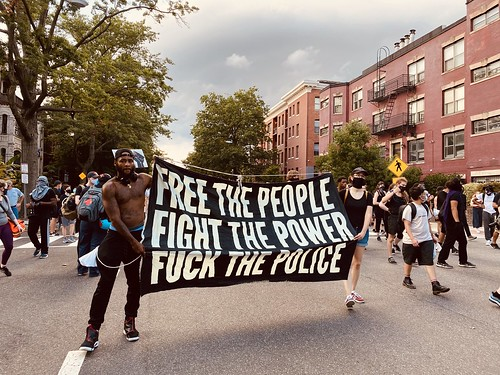Free the people, fight the power, fuck the police