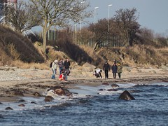 February 8, 2020 - People on the beach - Fehmarn - Germany