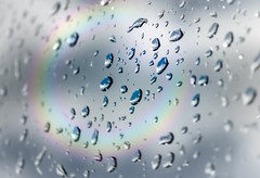 Photo of Sunshine Raindrops Rainbow Bokeh