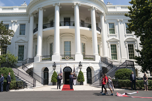 President Trump Welcomes the Walking Mar by The White House, on Flickr