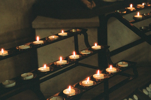 Candles in St George's, Southwark
