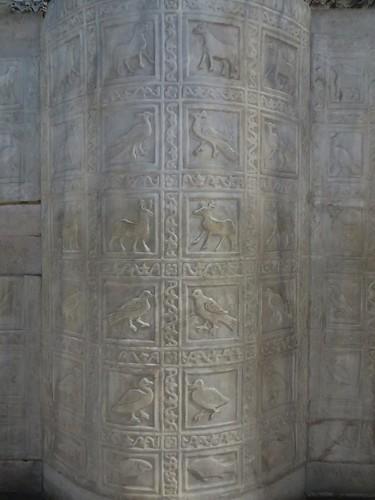 Ambon de l'évêque Agnello (entre 557 et 570), marbre grec, cathédrale de la Résurrection Notre-Seigneur XVIIIe, Ravenne, Emilie-Romagne, Italie.