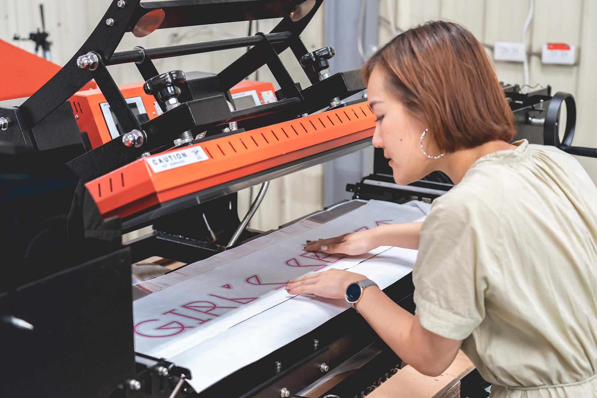 雙面運動毛巾印刷-熱轉印機