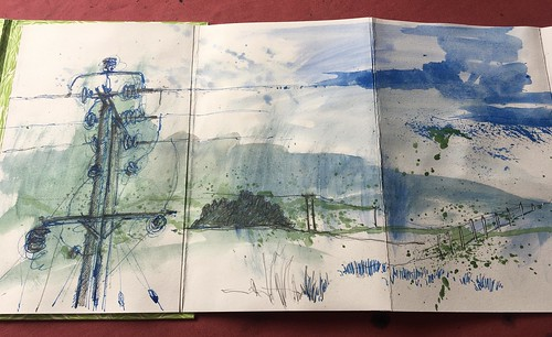 BARBARA CRAIG 20 TELEGRAPH POLES CONCERTINIA SKETCHBOOK