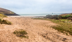 Photo of Manorbier Beach, Pembrokeshire, West Wales. UK. Europe.