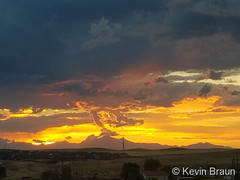 July 28, 2020 - A gorgeous sunset over Mount Meeker and Longs Peak. (Kevin Braun)