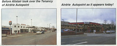 Photo of Burmah, Taggarts / Airdrie Autopoint, Airdrie, Lanarkshire, late 1970s and c.1992 (extract from Burmah People magazine)