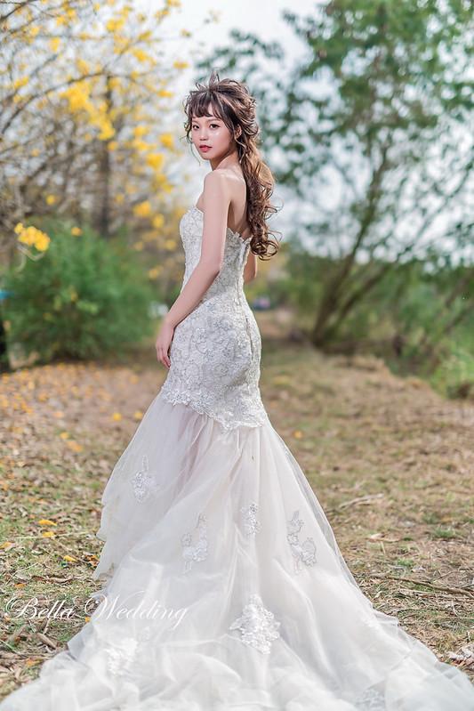 嘉義新秘,新秘,中埔新秘,黃花風鈴木婚紗,九重葛婚紗,仙仙浪漫造型,森林系婚紗