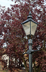 Photo of Queen Victoria public house cast iron lamp post, Theydon Bois, Essex, England