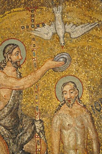 Baptême du Christ, coupole, baptistère des Orthodoxes ou de Néon, IVe-Ve siècles, Ravenne, Emilie-Romagne, Italie.