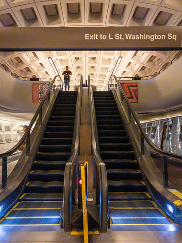 Farragut escalators - DC Metro