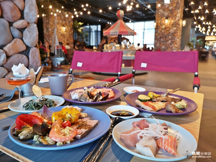 【桃園中壢】Cozzi Market 逸·市集|海洋主題飯店吃到飽餐廳|全國首創BBQ室內露營野餐區 @魚樂分享誌