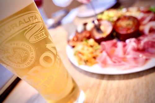 draft beer & appetizer