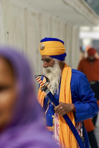 Ceremonial Sikh Guard, Amritsar