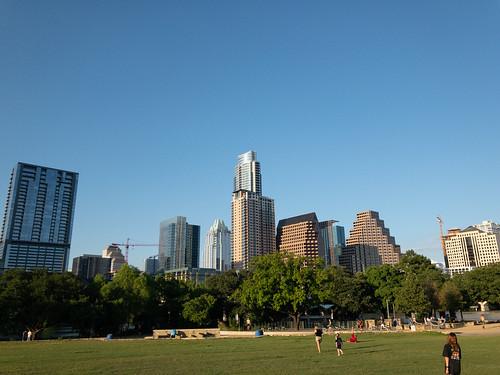 Downtown Austin from Vic Mathias Shores park