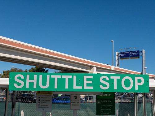 Shuttle Stop at San Antonio International Airport (SAT)