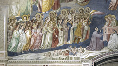 Giotto, Last Judgment, detail with the Elect, Arena Chapel