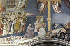 Giotto, Last Judgment, detail with Enrico Scrovegni Presenting Chapel to the Three Marys, Arena Chapel