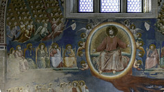 Giotto, Last Judgment, detail with the Court of Heaven and Christ in Majesty, Arena Chapel