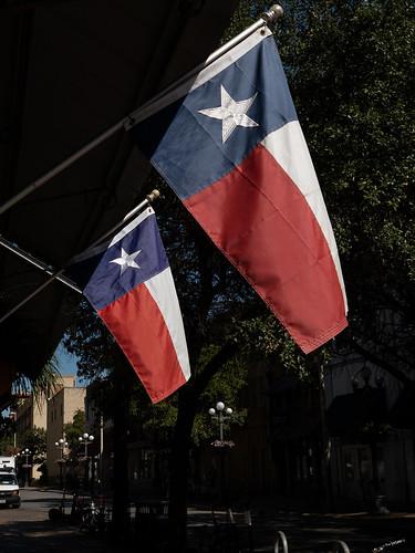 Two Texas Flags - Downtown San Antonio