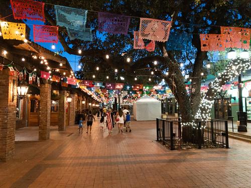 Historic Market Square at dusk - San Antonio, Texas