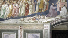 Giotto, Last Judgment, detail with resurrected souls, Arena Chapel