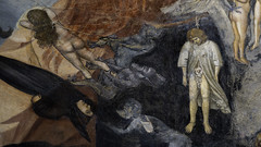 Giotto, Last Judgment, detail with torments, Arena Chapel