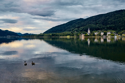 Evening mood at the Ossiacher See