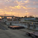Sunrise at McAlpine Locks and Dam
