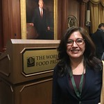 Borlaug Fellow Maria Cazar at the World Food Prize
