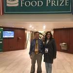 Borlaug Fellow Maria Cazar and mentor Deyu Xie at the World Food Prize