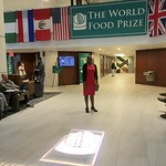 Borlaug Fellow Anne at the World Food Prize