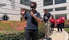 Jason Rabinowitz UCLA rally against layoffs July 29 2020
