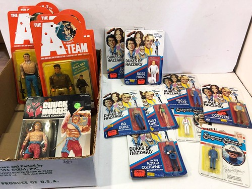 Action figures including The A Team, Chuck Norris & Dukes of Hazzard ($640.68)